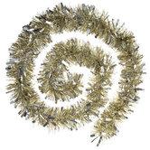 Gold & Silver Tinsel Garland - 9'