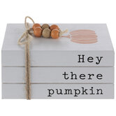 Hey There Pumpkin Stacked Wood Decor