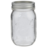 Glass Mason Jar - 16 Ounce