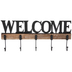 Welcome Metal Wall Decor With Hooks