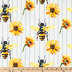 Bumble Bee Sunflower Duck Cloth Fabric