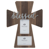 Blessed Wood Cross Collage Wall Frame