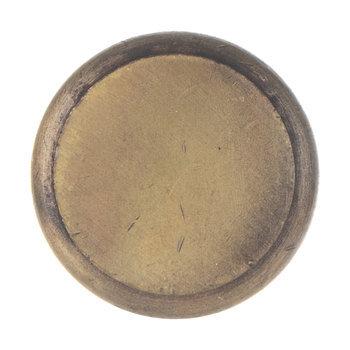 Flat Round Metal Knob