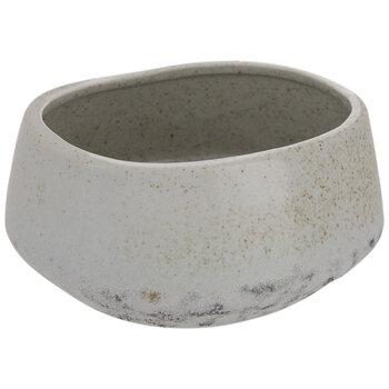 Gray & Brown Speckled Oval Flower Pot