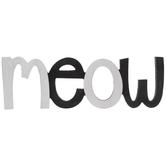 Meow Wood Wall Decor
