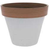 White Two-Tone Flower Pot - Small