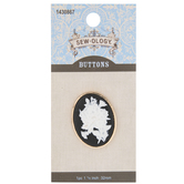 Cameo Floral Shank Button - 32mm
