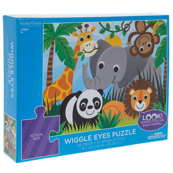 Wiggle Eyes Safari Puzzle