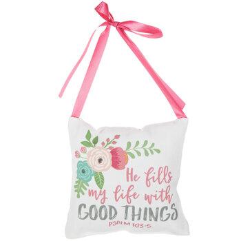 Psalm 103:5 Pillow Door Hanger