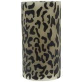 Leopard Print LED Pillar Candle