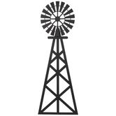Matte Black Windmill Metal Wall Decor