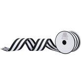 Striped Wired Edge Grosgrain Ribbon