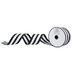 Black & White Striped Wired Edge Grosgrain Ribbon - 2