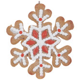 Iced Snowflake Cookie Ornament