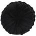 Black Velvet Round Pillow
