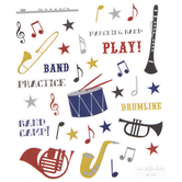 Marching Band Foil Stickers
