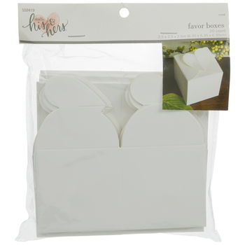 White Heart Top Favor Boxes