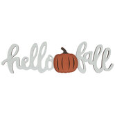 Hello Fall Pumpkin Wood Decor