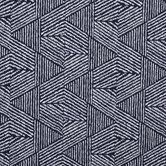 Navy & White Geometric Outdoor Fabric