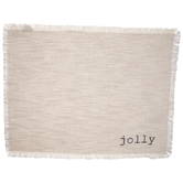 Jolly Beige Fringed Placemat