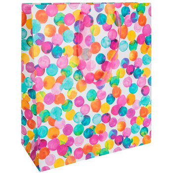 Bright Watercolor Dot Gift Bags