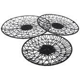 Black Basket Tray Set
