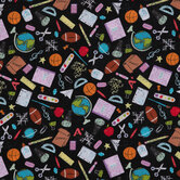 Back To School Cotton Fabric
