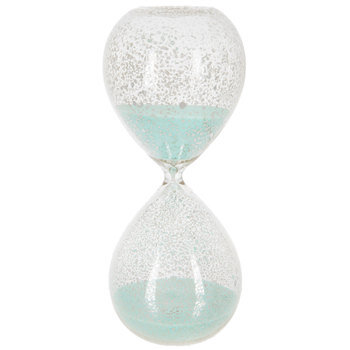 Speckled Mercury Glass Hourglass With Mint Sand