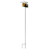 Bee On Leaf Metal Garden Stake