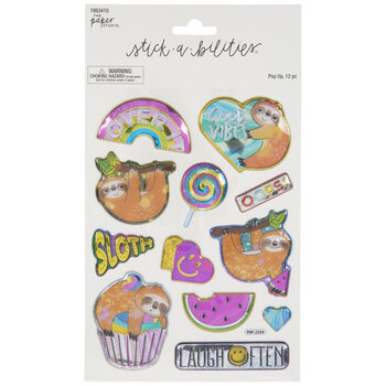 Sloth Puffy Foil Stickers