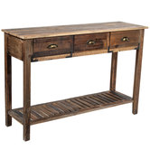 Distressed Wood Sofa Table