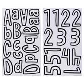 Cartoon Alphabet Stickers