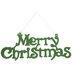 Green Glitter Merry Christmas Wall Decor