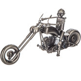 Nuts & Bolts Metal Motorcycle Rider