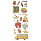 School Glitter Stickers