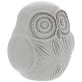 Whitewash Flower Owl