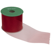 Red Metallic Sheer Ribbon - 2 1/2""