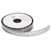 Rhinestone Iron-On Trim - 15/32""