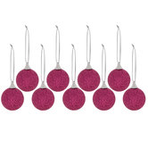 Pink Mini Glitter Ball Ornaments