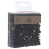 Black & Gold Faceted Bead Mix