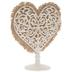 Ivory Heart & Burlap Cake Topper