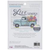 Live Simply Flower Truck Cross Stitch Kit