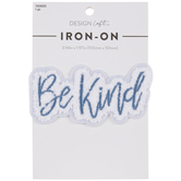Be Kind Chenille Iron-On Applique