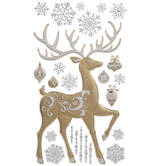 Gold & Silver Reindeer Wall Adhesives