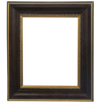 Gold Trimmed Wood Open Frame