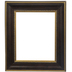 Gold Trimmed Wood Open Frame - 16