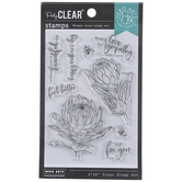 Feel Better Floral Clear Stamps