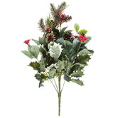 Holly, Pine & Berry Bush With Leaves