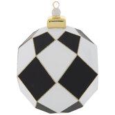 Black & White Diamond Pattern Ornament