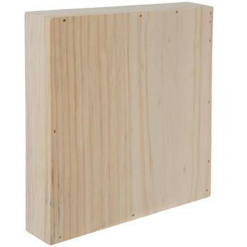 Square Wood Box Sign Wall Decor